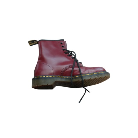 Chaussures à lacets  DR. MARTENS Rouge, bordeaux