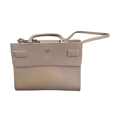 Leather Handbag GUESS Gray, charcoal