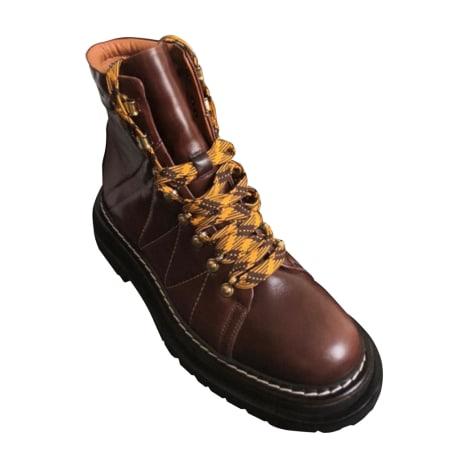Bottines & low boots motards SANDRO Beige, camel
