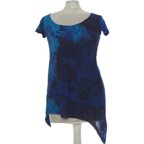 Top, tee-shirt DESIGUAL Bleu, bleu marine, bleu turquoise