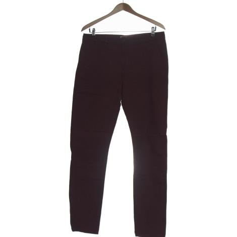 Straight Leg Pants H&M Purple, mauve, lavender