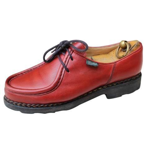Chaussures à lacets  PARABOOT Rouge, bordeaux