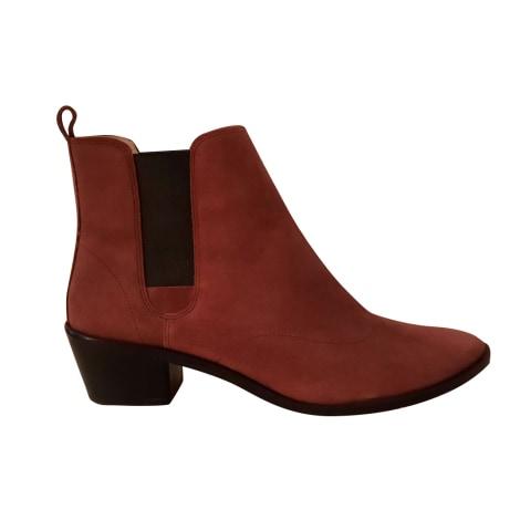 Santiags, bottines, low boots cowboy REPETTO Rouge, bordeaux