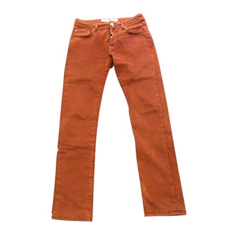 Jeans droit JACOB COHEN Ocre