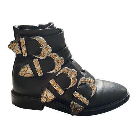 Biker Ankle Boots MAJE Black