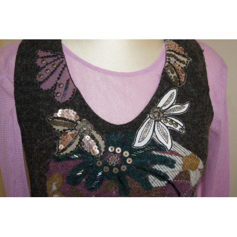 Robe courte COP-COPINE Violet, mauve, lavande