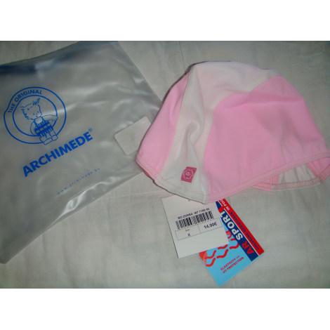 Mütze ARCHIMEDE Blanc et rose