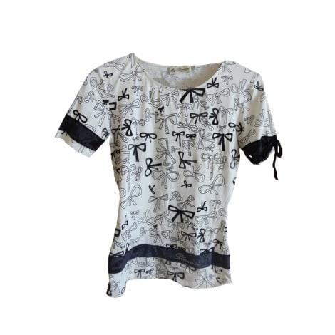 Top, tee-shirt BLUMARINE Blanc, blanc cassé, écru