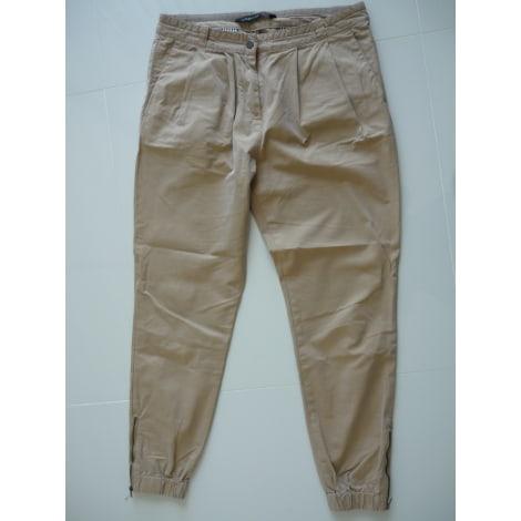 Pantalon large ZARA Beige, camel