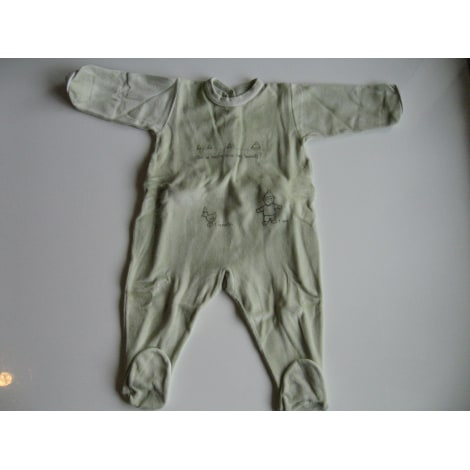 Grenouillère, babygros PETIT BATEAU Vert
