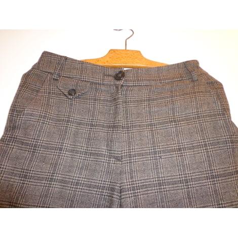Pantalon large IKKS Marron