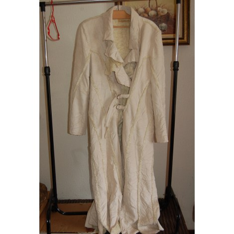 Manteau HELENA SOREL Blanc, blanc cassé, écru