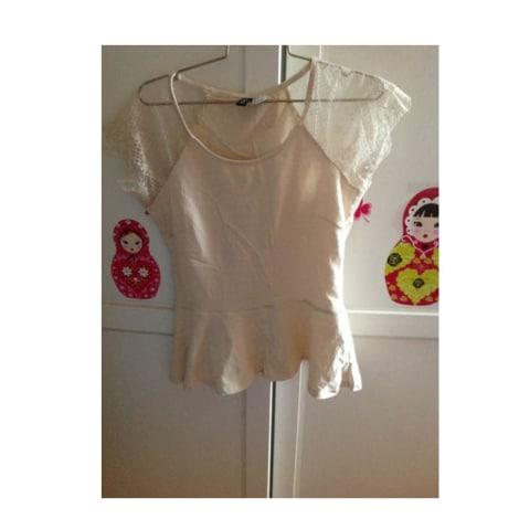 Top, tee-shirt H&M Beige, camel