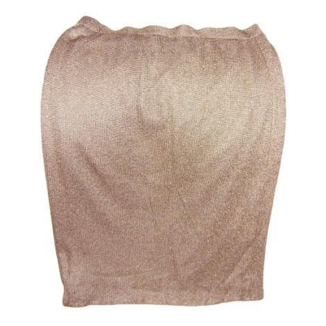 Jupe mi-longue RODIER Doré, bronze, cuivre