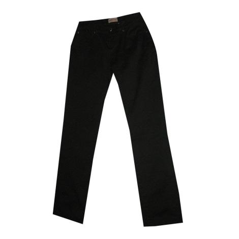 Pantalon droit VERSACE Noir