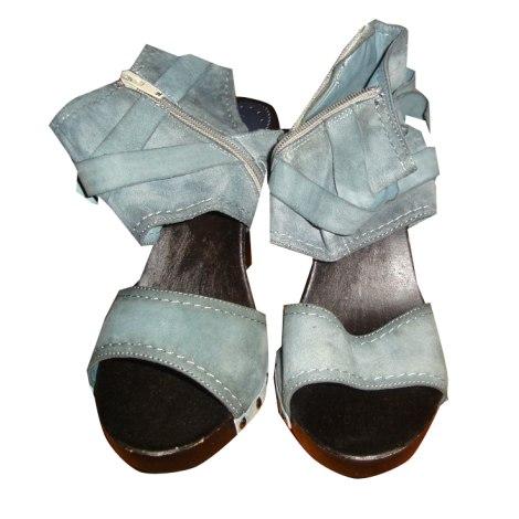 Escarpins à bouts ouverts ANDRÉ Bleu, bleu marine, bleu turquoise