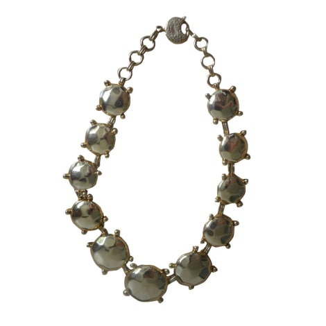 Collier YVES SAINT LAURENT Doré, bronze, cuivre
