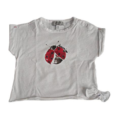 Top, tee shirt ARMANI Blanc, blanc cassé, écru