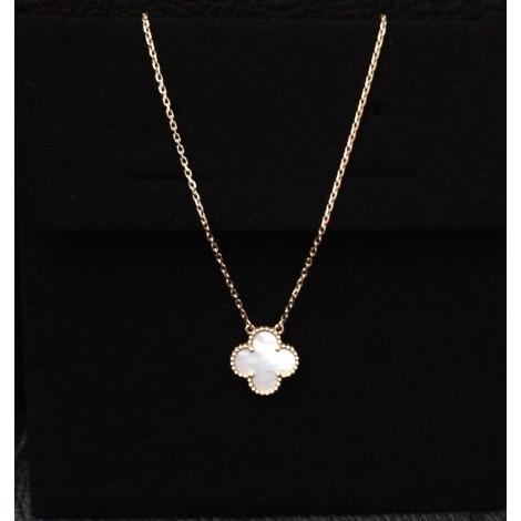 Pendentif, collier pendentif VAN CLEEF & ARPELS blanc - 1728402
