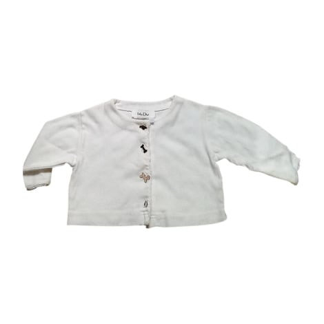 Vest, Cardigan BABY DIOR White, off-white, ecru