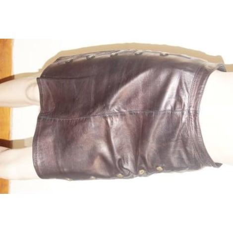 Jupe courte EPIDERME Doré, bronze, cuivre