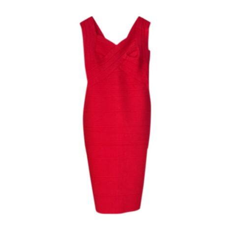 Robe courte MARQUE INCONNUE Rouge, bordeaux