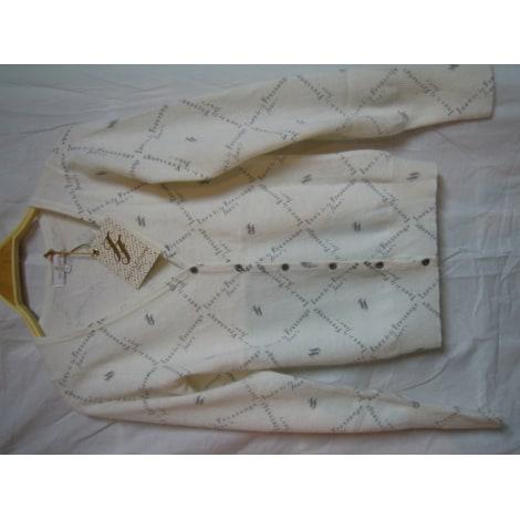 Gilet, cardigan INÈS DE LA FRESSANGE Blanc, blanc cassé, écru