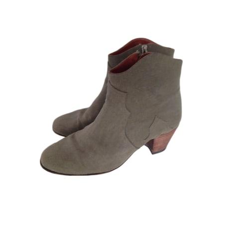 Santiags, bottines, low boots cowboy ISABEL MARANT Kaki