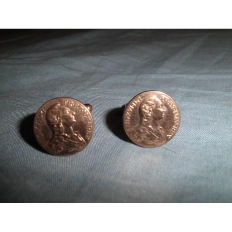 Cufflinks DIAL Golden, bronze, copper