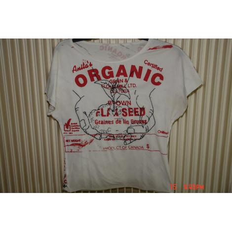 Top, tee-shirt ORGANIC PAINTING Blanc, blanc cassé, écru