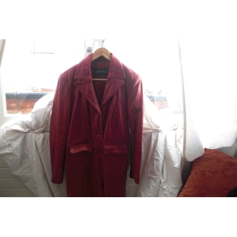 Manteau en cuir REDSKINS Rouge, bordeaux