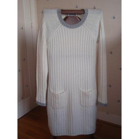 Robe courte ALAIN MANOUKIAN Blanc, blanc cassé, écru