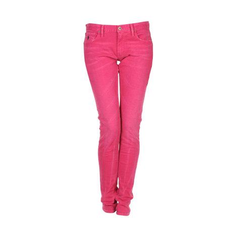 Jeans slim RALPH LAUREN Rose, fuschia, vieux rose