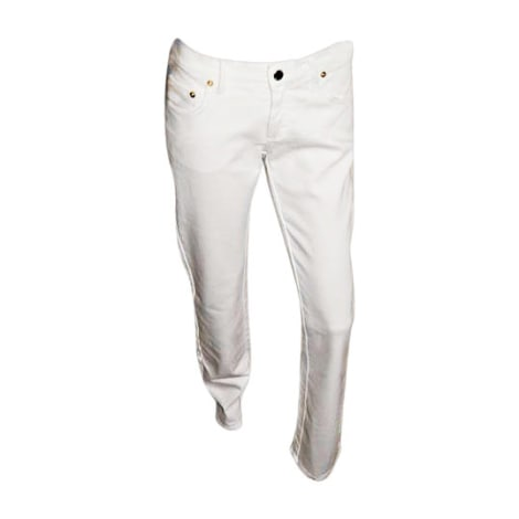 Jeans slim GIANFRANCO FERRE Blanc, blanc cassé, écru