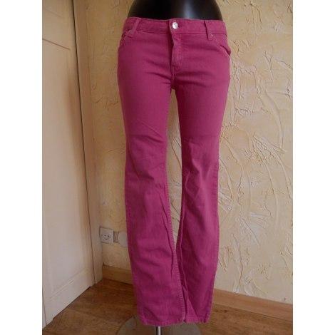 Jeans droit ZADIG & VOLTAIRE Rose, fuschia, vieux rose