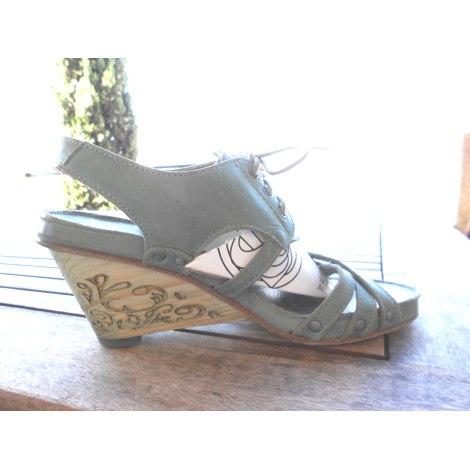 Sandales compensées NEOSENS Vert