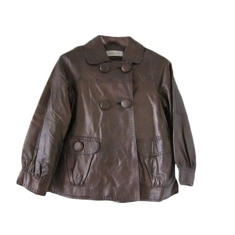 Veste en cuir GERARD DAREL Doré, bronze, cuivre