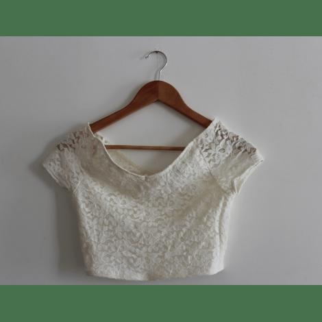 Top, tee-shirt TOPSHOP Blanc, blanc cassé, écru