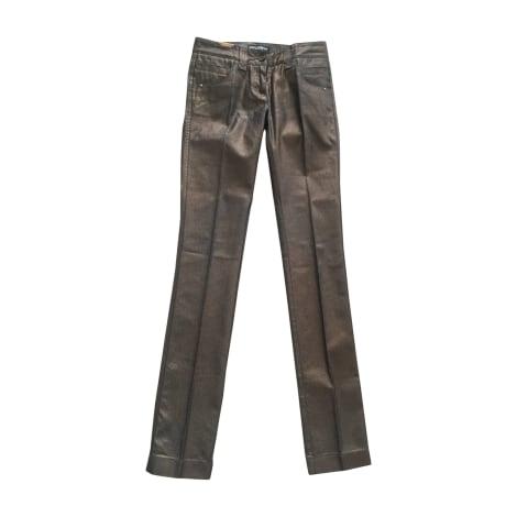 Jeans droit DOLCE & GABBANA Doré, bronze, cuivre