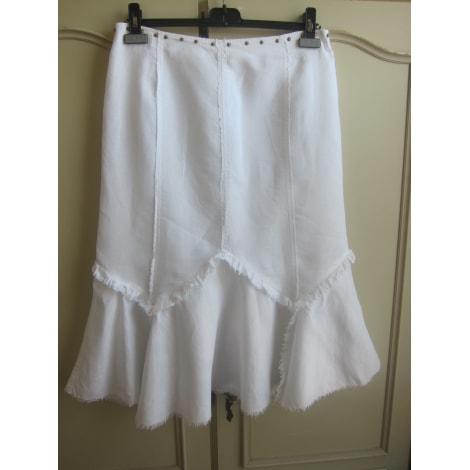 Jupe longue BISCOTE Blanc, blanc cassé, écru