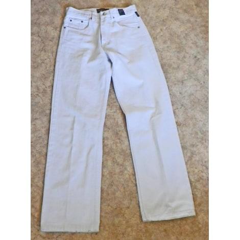 Straight Leg Jeans VERSACE White, off-white, ecru