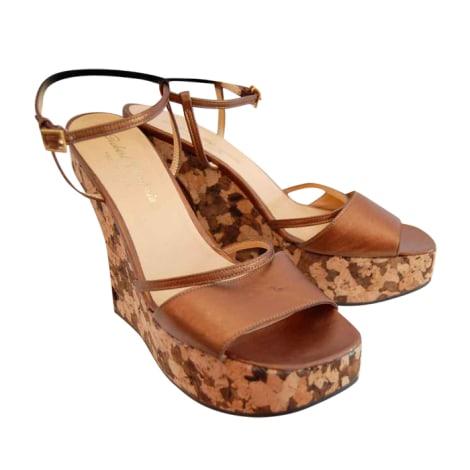 Sandales compensées ROBERT CLERGERIE Doré, bronze, cuivre