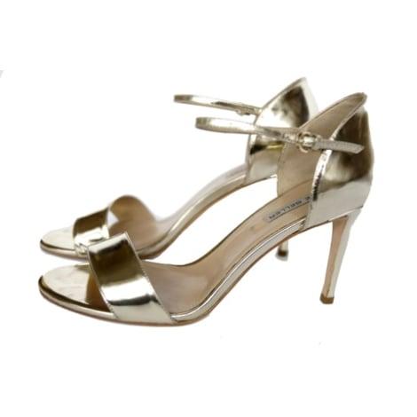 Sandales à talons THE SELLER Doré, bronze, cuivre