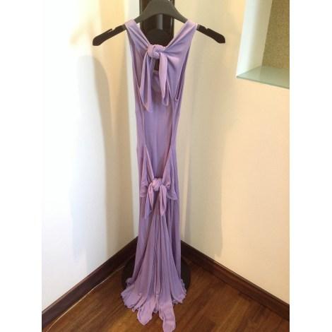 Robe dos nu VALENTINO Violet, mauve, lavande