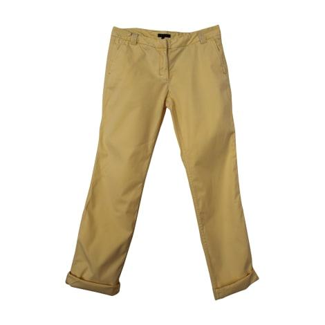 Pantalon droit TOMMY HILFIGER jaune clair