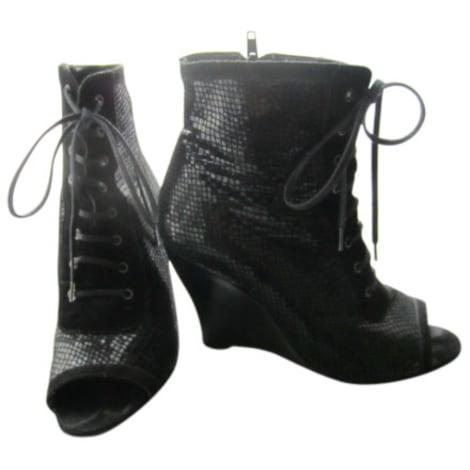 Sandales compensées EDEN Noir