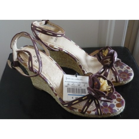 Sandales compensées ZARA Multicouleur