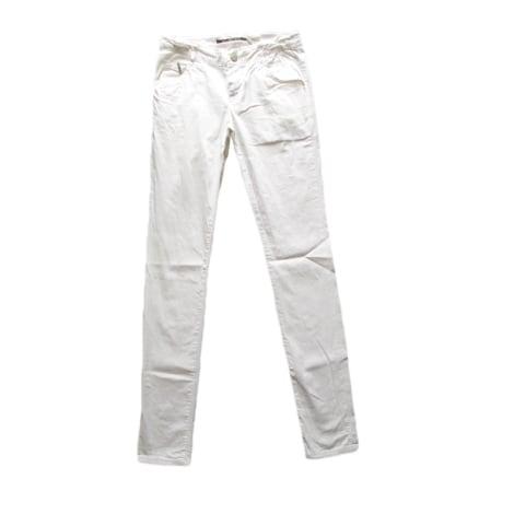 Jean slim  IKKS Blanc, blanc cassé, écru