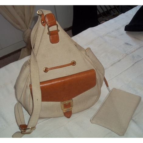 Backpack TEXIER Beige, camel