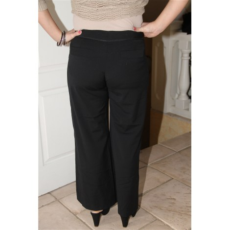 Pantalon large CHANEL Noir